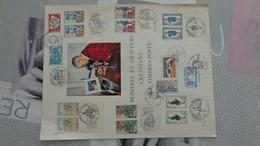 Journée Du Timbre Alès (Gard) 1966 à 1974 + 1977 à 1981 Sur Document 4 Pages Peintres Et Graveurs De Timbres-poste - FDC