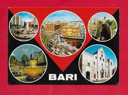 CARTOLINA VG ITALIA - BARI - Vedutine Multivue - 10 X 15 - ANN. 1976 - Bari