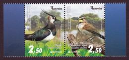 Bosnia And Herzegovina 2019 Europa CEPT National Birds Fauna Vanellus Vanellus Eremophila Alpestris, Set In Pair MNH - 2019