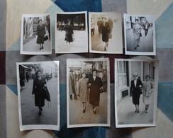 Lot 7 Photos D'une Même Personne Sur La Canebière Marseille - Années 1950-60 - Personnes Anonymes