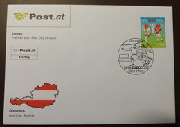Brief Österreich   2008  Fußball UEFA  FDC  #cover 4850 - 1945-.... 2. Republik