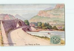 PONT De CLAIX - Les Ponts En Couleur Par Melchior Jaubert - Dos Simple - 2 Scans - Other Municipalities