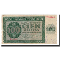Billet, Espagne, 100 Pesetas, 1936, 1936-11-21, KM:101a, B - [ 2] 1931-1936 : Repubblica