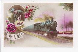 CPA MILITARIA Amitiés   Couple Train - Autres