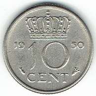 The Netherlands 1950, 10 Cents - [ 3] 1815-… : Koninkrijk Der Nederlanden