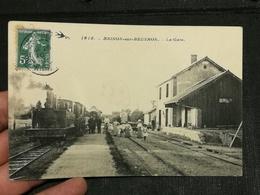CPA 58 - NIEVRE - BRINON-SUR-BEUVRON - La Gare - Brinon Sur Beuvron