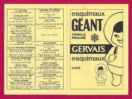 Programme Des Spectacles De Paris Du 17 Au 23 Février 1965 - Publicités Gervais Et Schweppes - Programs