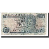 Billet, Jersey, 1 Pound, Undated (1976-1988), KM:11a, B - Jersey