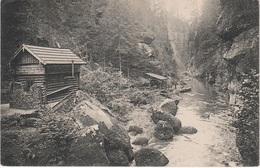 AK Wilde Klamm Edmundsklamm Bootstation Bootshaus Steg Herrnskretschen Hrensko Stimmersdorf Hohenleipa Böhmische Schweiz - Sudeten