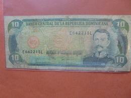 REP.DOMINICAINE 10 PESOS 1978-88 CIRCULER (B.4) - Dominicaine