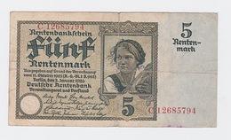 Billet De  Reischmark Pick 169  Du 2-1-1926 - 5 Reichsmark