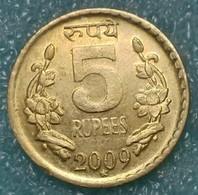 "India 5 Rupees, 2009 Mintmark ""*"" - Hyderabad -1242 - Inde"
