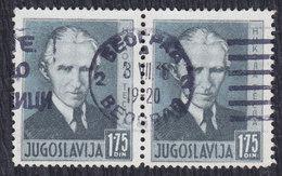Yugoslavia 1936 Nikola Tesla, In Pair, Used (o) Michel 327 - Gebraucht