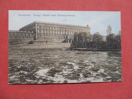 Stockholm Kongl Slottet Med Stromparterren   Sweden- Has Stamp & Cancel    Ref 3425 - Sweden