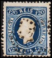 1867. Luis I. 120 REIS. (Michel 32) - JF304227 - 1853 : D.Maria