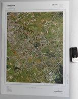 GROTE-LUCHT-FOTO WAREGEM LEEUWKE SINT-ELOOIS-VIJVE KAART 1/10.000 67x48cm ORTHOFOTOPLAN PHOTO AERIENNE LUCHTFOTO R752 - Waregem