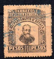 Sello Nº 9  Colombia Boyaca - Colombia