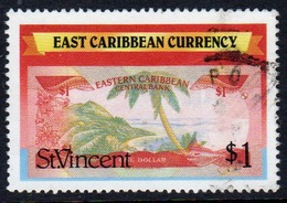 St Vincent 1987 Single $1 Stamp From The East Caribbean Currency Set. - St.Vincent (1979-...)