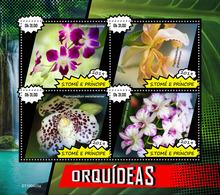 St.Tome &Principe.  2019 Orchids. (0405a)  OFFICIAL ISSUE - São Tomé Und Príncipe