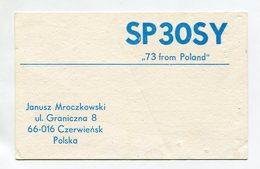 QSL RADIO AMATEUR CARD 1986 SP3OSY POLAND D36 - Radio Amateur
