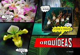 St.Tome &Principe.  2019 Orchids. (0405b)  OFFICIAL ISSUE - São Tomé Und Príncipe