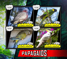 St.Tome &Principe.  2019 Parrots. (0404a)  OFFICIAL ISSUE - São Tomé Und Príncipe