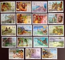 Papua New Guinea 1973/1974 Complete Definitive Set MNH - Papouasie-Nouvelle-Guinée