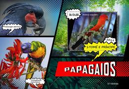 St.Tome &Principe.  2019 Parrots. (0404b)  OFFICIAL ISSUE - São Tomé Und Príncipe