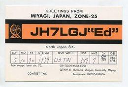 QSL RADIO AMATEUR CARD 1990 JH7LGJ MIYAGI JAPAN D38 - Radio Amateur