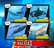 St.Tome &Principe.  2019 Whales. (0402a)  OFFICIAL ISSUE - São Tomé Und Príncipe
