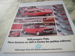 PUBLICITE  VOITURE VOLKSWAGEN POLO 1975 - Voitures