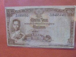 THAILANDE 10 BAHT 1953 CIRCULER (B.4) - Tailandia