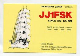 QSL RADIO AMATEUR CARD 1990 JJ1FSK KANAGAVA JAPAN D41 - Radio Amateur