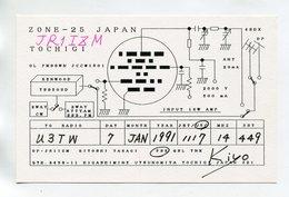 QSL RADIO AMATEUR CARD 1991 JR1I8M JAPAN D42 - Radio Amateur