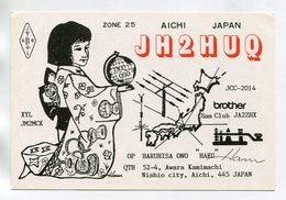 QSL RADIO AMATEUR CARD 1990 JH2HUQ AICHI JAPAN D43 - Radio Amateur
