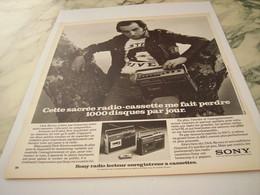 ANCIENNE PUBLICITE DICK RIVERS ET SONY 1975 - Autres