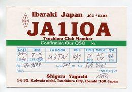 QSL RADIO AMATEUR CARD 1990 JA1IOA IBARAKI JAPAN D44 - Radio Amateur