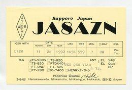 QSL RADIO AMATEUR CARD 1990 JA8AZN HOKKAIDO JAPAN D45 - Radio Amateur