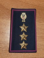 POLIZIA COMMISSARIO - GRADI TUBOLARI IN DISUSO - ITALIAN POLICE RANKS Summer Uniform - Obsolete (167) - Polizia