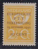 Netherlands 1941 Europeesche PTT Vereeniging 1v ** Mnh (43231B) - European Ideas