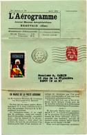 L'aerogramme De Exposition Coloniale Paris (17.08.1931) Pour Nancy - Marcophilie (Lettres)
