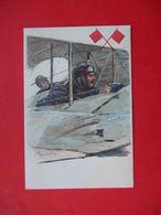 Russia 1916 Aircraft, Pilot, Aviation. Charity Postcard  Skobelevsky Committee, Art. Georgiev - Guerre 1914-18