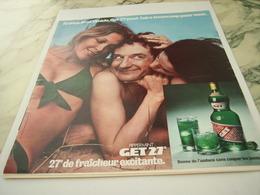 ANCIENNE  PUBLICITE PIPPERMINT GET 27 1975 - Alcohols