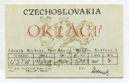 QSL RADIO AMATEUR CARD 1991 OK1ACF PRAHA CZECHOSLOVAKIA D51 - Radio Amateur