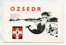 QSL RADIO AMATEUR CARD 1991 OZ5EDR COPENHAGEN DENMARK D52 - Radio Amateur