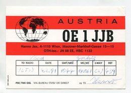 QSL RADIO AMATEUR CARD 1991 OE1JJB AUSTRIA D55 - Radio Amateur