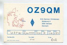 QSL RADIO AMATEUR CARD 1991 OZ9QM DENMARK D57 - Radio Amateur