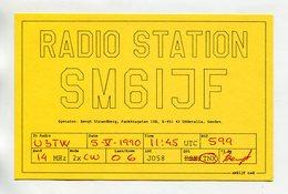 QSL RADIO AMATEUR CARD 1990 SM6IJF SWEDEN D59 - Radio Amateur