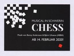 XxAxx Werbepostkarte Musical In SCHWERIN - CHESS 2020 - Publicité