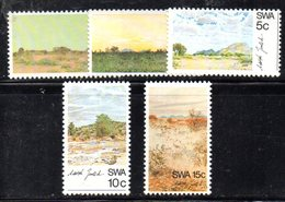 APR1447 - SWA AFRICA SUD OVEST 1973 , Yvert N. 313/317  ***  MNH Gomma Stanca (2380A) . - Africa Del Sud-Ovest (1923-1990)